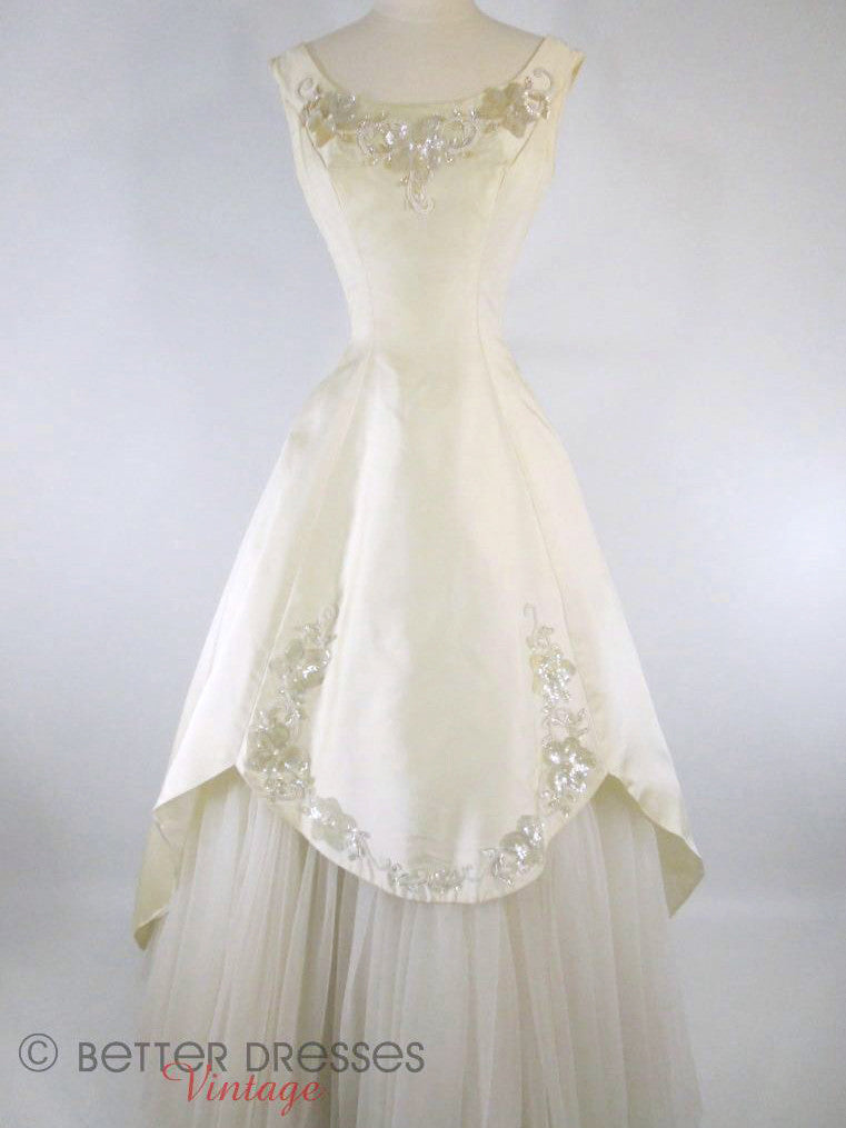 50s Wedding Dress by Mike Benet at Better Dresses Vintage