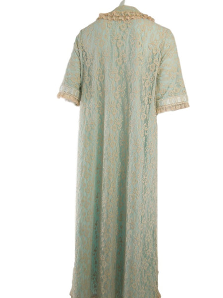 50s Light Blue Dressing Gown Robe by Odette Barsa - sm, med, lg