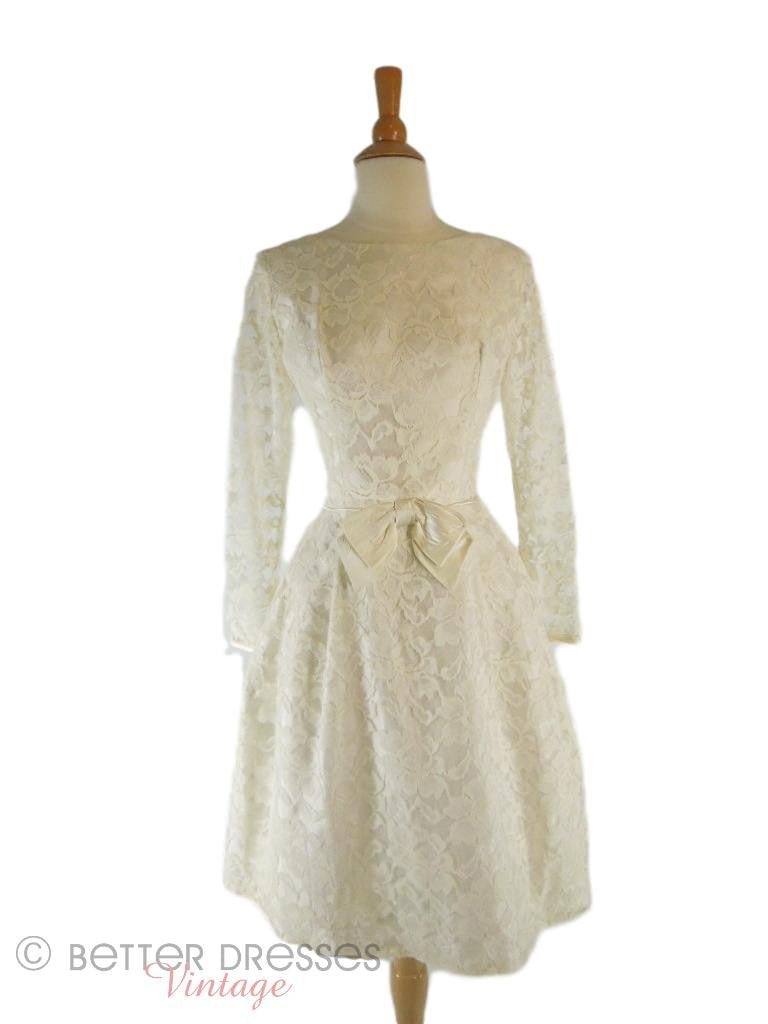 50s/60s Ivory Lace Dress | Vintage Wedding