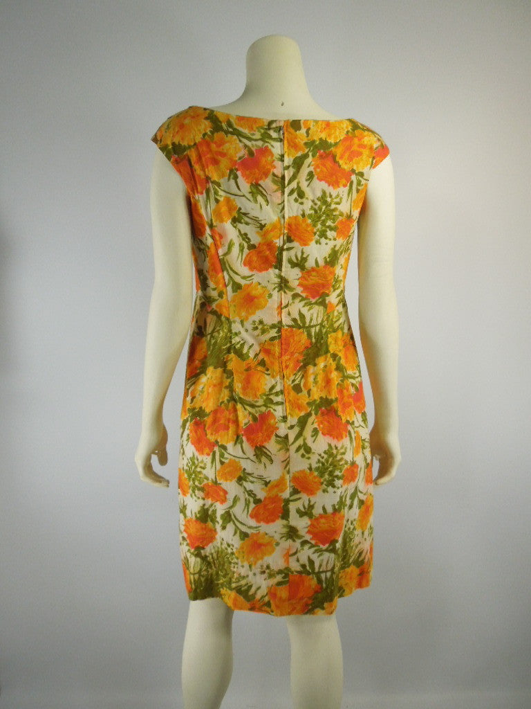 92f42095658 Vintage 50s 60s Maternity Dress Shift Orange Floral by Ma Mere ...