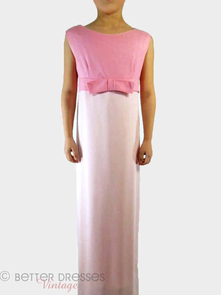 60s Pink Party Dress Petite - front