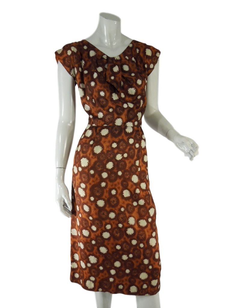 50s/60s Brown Wiggle Dress