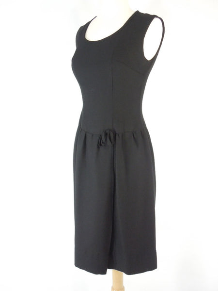 50s/60s Black Sheath Dress