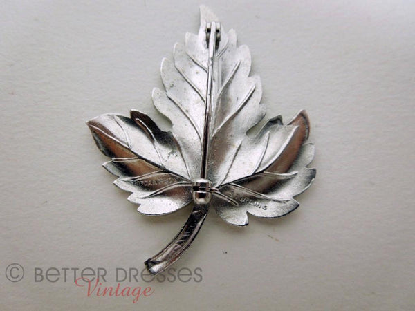 Vintage Tiffany & Co. Sterling Leaf Brooch