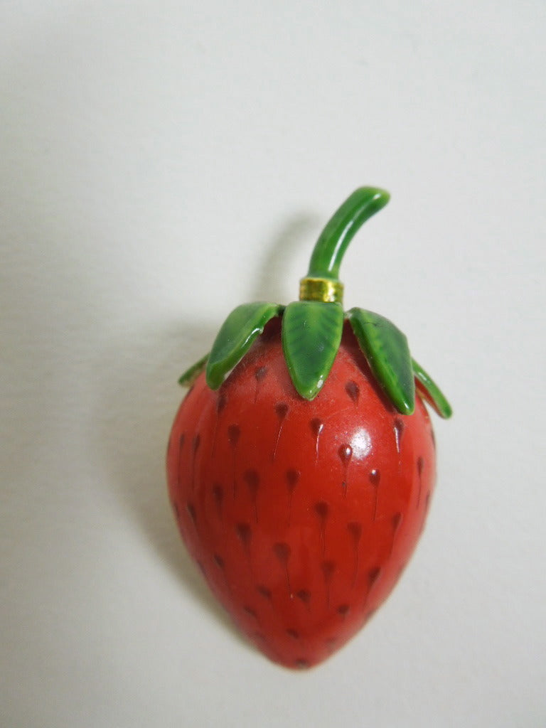 Original by Robert vintage 60s strawberry brooch at www.BetterDressesVintage.com - overview