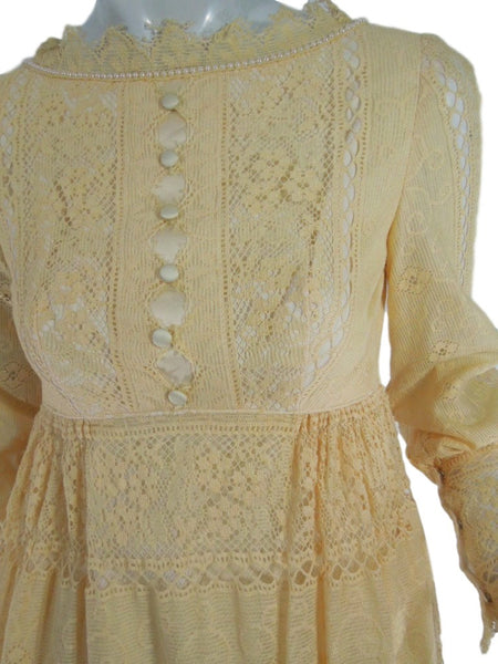70s Lace Maxi Dress - detail
