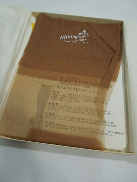 50s/60s Nylon Seamless Stockings New in Box - Size 9S