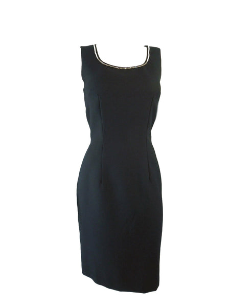 Black Wiggle Dress With Rhinestones