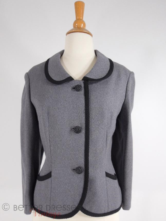 60s Gray Tweed Jacket - med, lg