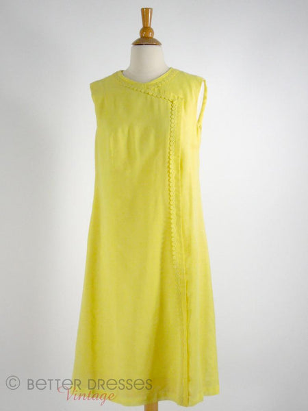 60s Yellow Shift Dress at Better Dresses Vintage