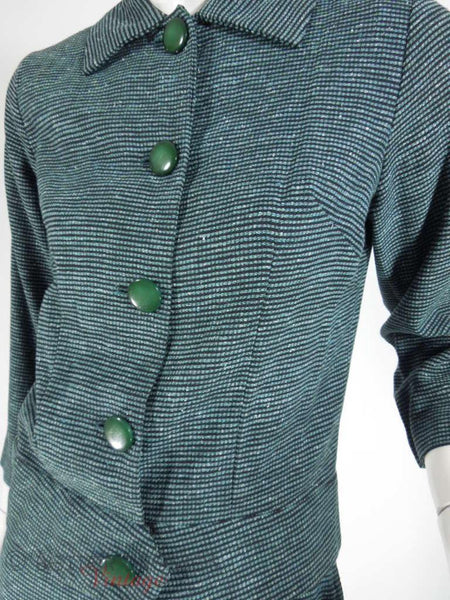 50s Lightweight Tweed Skirt Suit - sm, med