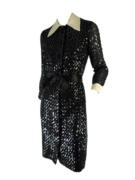 70s Sequined Shirtwaist