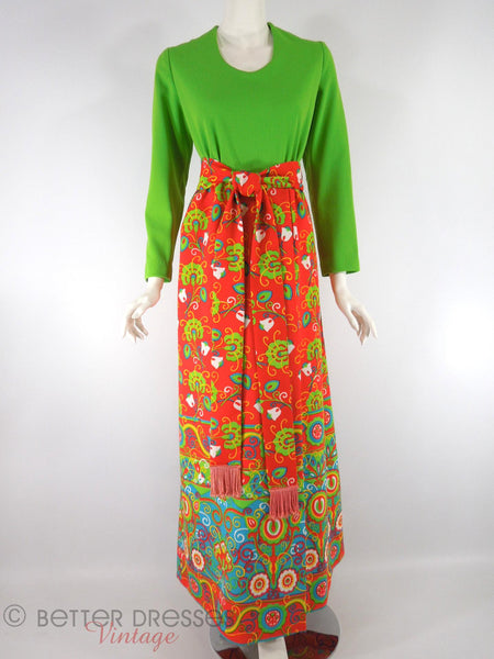 Lime Green and Brights Hostess Dress - front