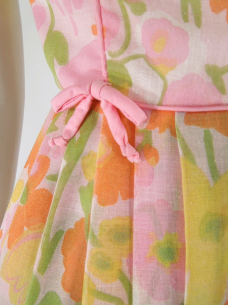 60s Pastel Cotton Dress - detail