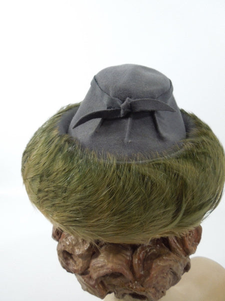 Early 40s New York Creation hat from Regenstein's Atlanta at Better Dresses Vintage. Back view.