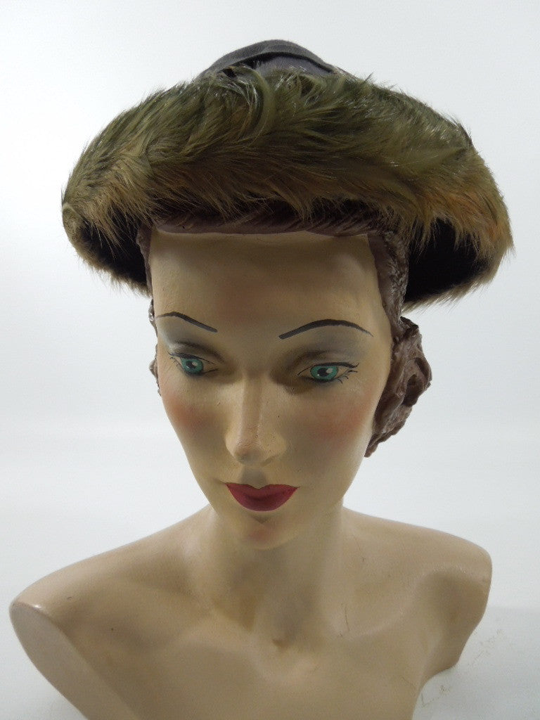 Early 40s New York Creation hat from Regenstein's Atlanta at Better Dresses Vintage.