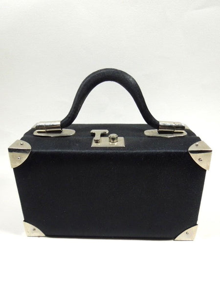 Vintage Judith Leiber for Bonwit Teller Black Satin Bag at Better Dresses Vintage. View 2.