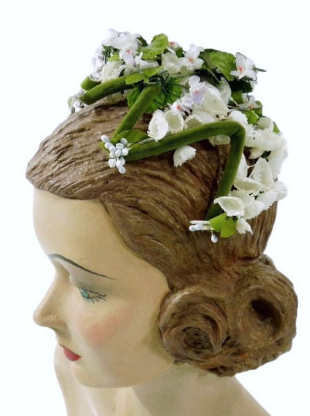 50s Floral Wedding Headpiece
