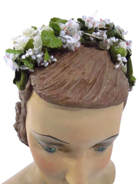 50s Bridal Headpiece - front view