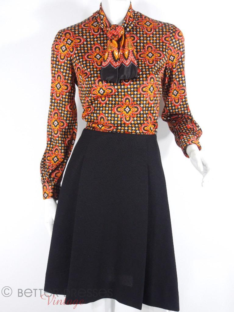 60s/70s Autumn Colors Dress
