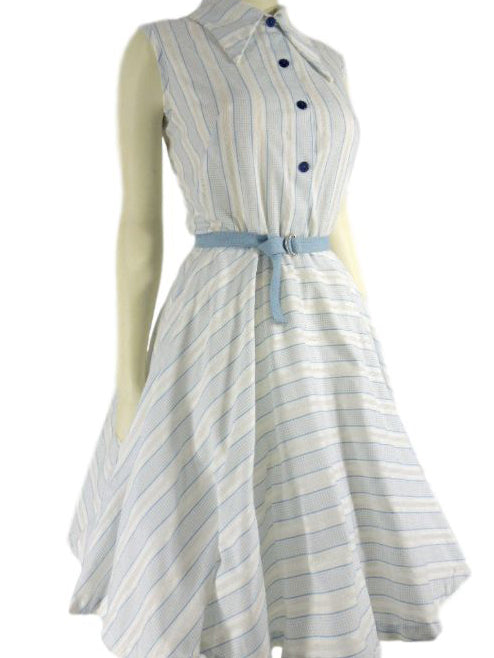 1950s full-circle shirtwaist dress