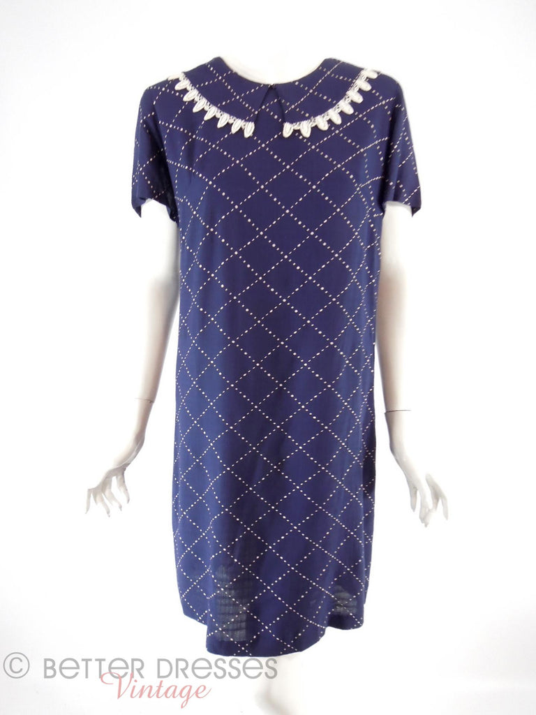 60s Navy Blue Shift - front