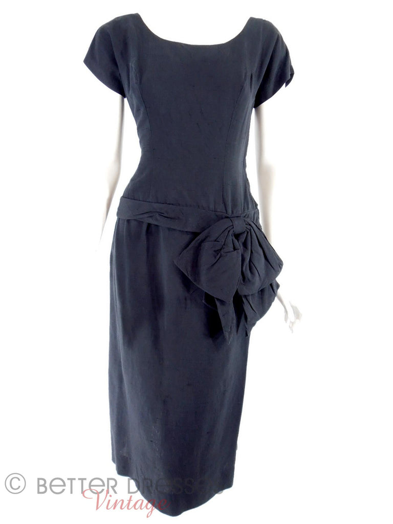50s Drop Waist Cocktail Dress - front