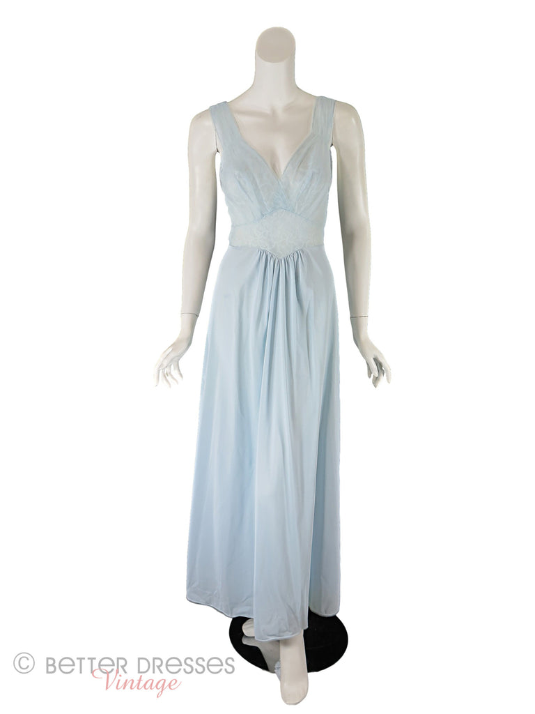 50s Light Blue Vanity Fair Nightgown - small
