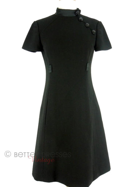60s Mod Dress in Black by Adele Simpson