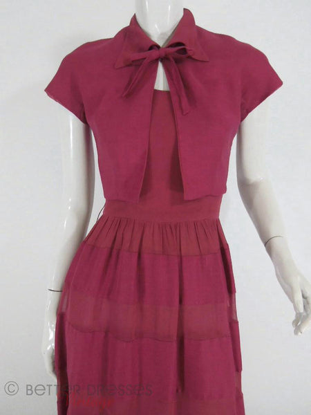 40s/50s Dress & Bolero Set - close