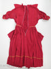 40s red rayon ruffle front dress at Better Dresses Vintage - interior view