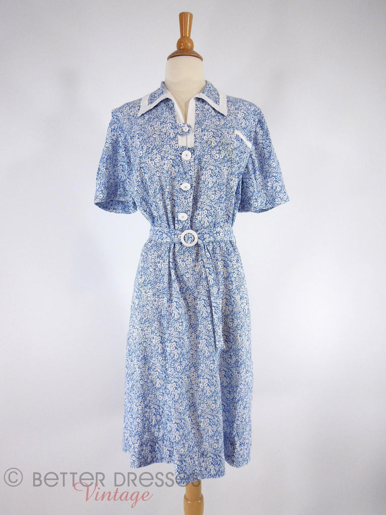 40s Day Dress - front view