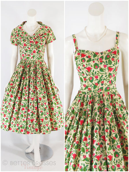 50s Full Skirt Sundress & Bolero Set
