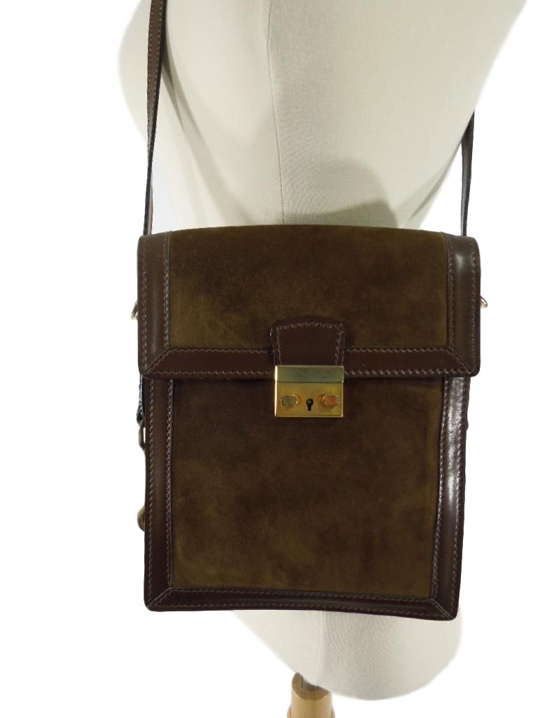 1970s Serapian Leather Vintage 70s Serapian Italian Leather bag from Lederer de Paris NYC