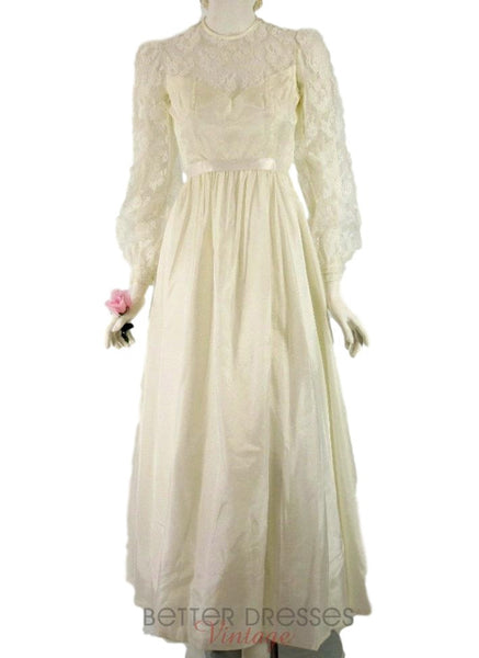 70s Boho Wedding Gown - sm