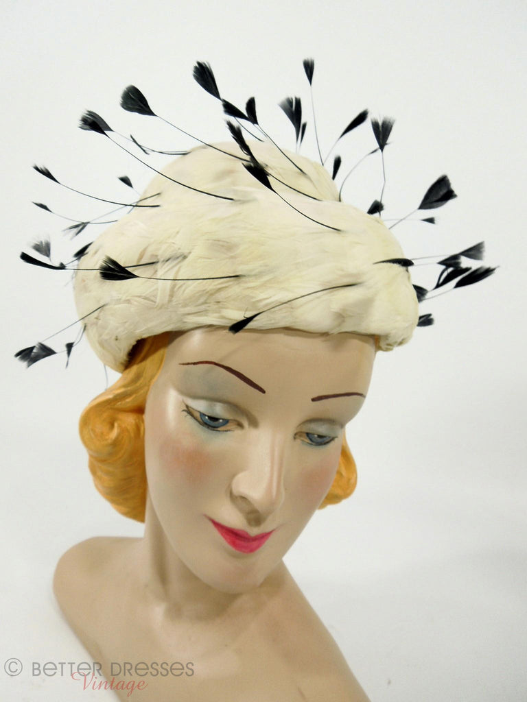 50s/60s Dramatic Feather Hat