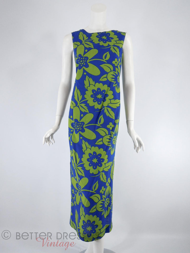 60s Hawaiian Maxi Shift - front