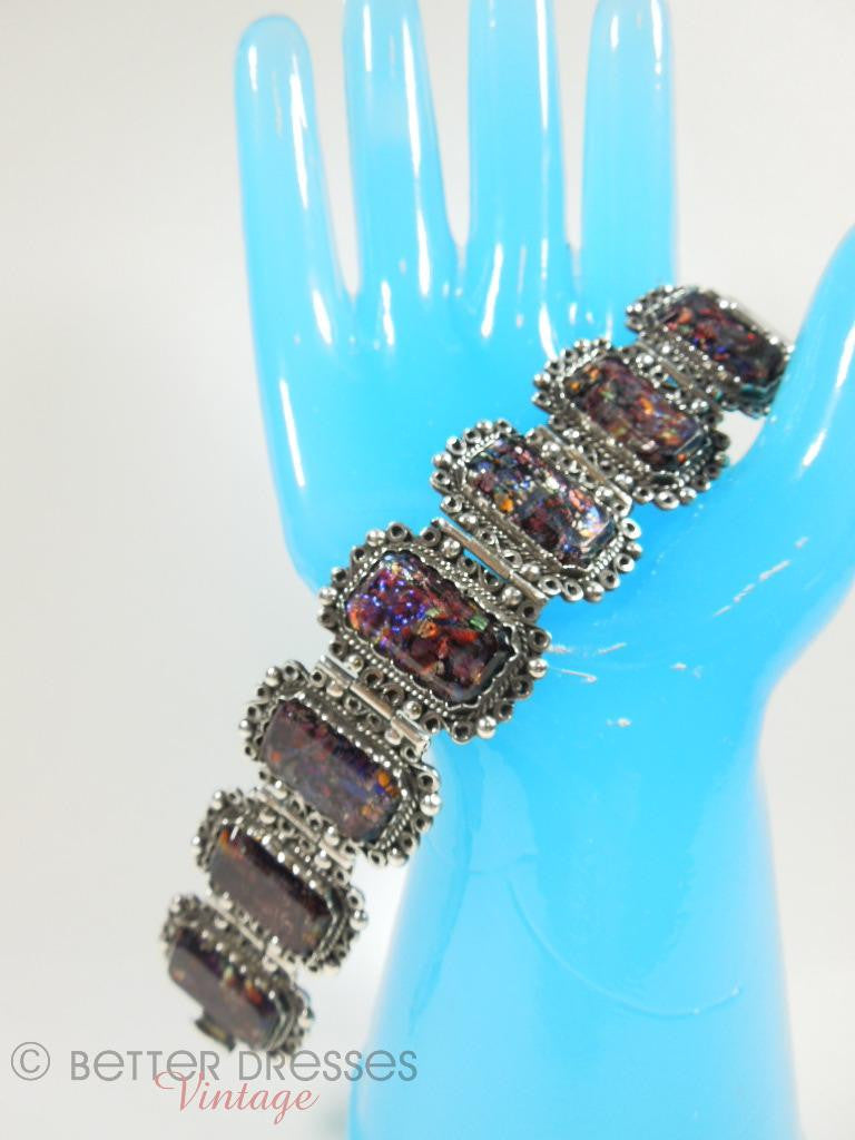 30s/40s Mexican Silver and Opal Bracelet