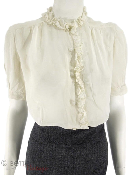30s/40s Ruffled Blouse