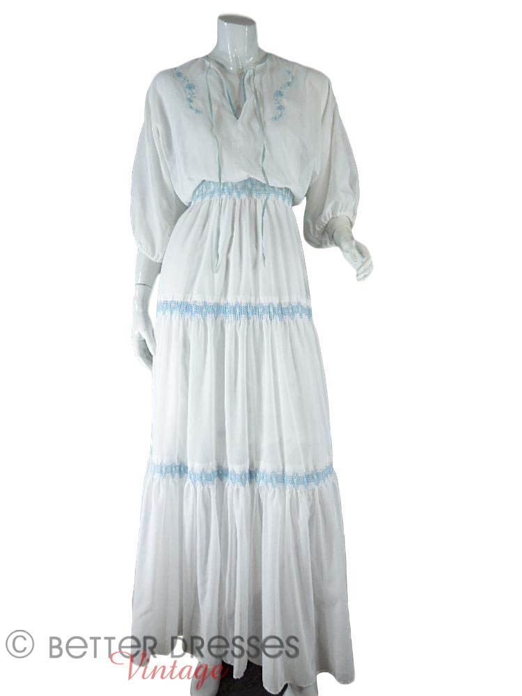70s Boho Maxi Dress - full front view