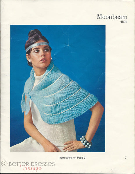 capelet from All That Glitters 1971 Bucilla pattern book