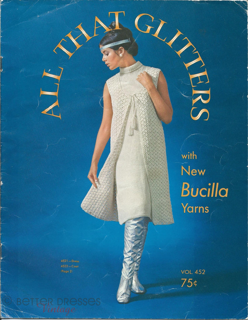 vintage Bucilla knit and crochet pattern booklet