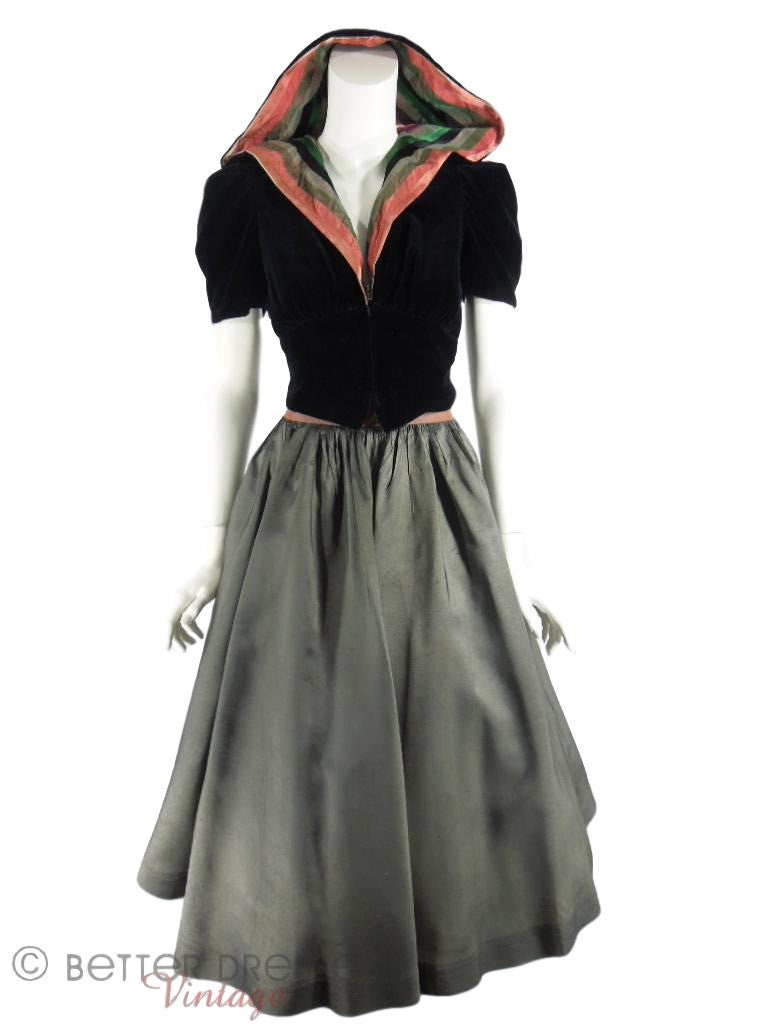 30s jacket & skirt set
