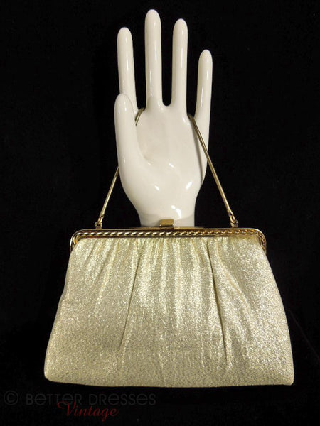 1950s Evening Bag in Gold Fabric