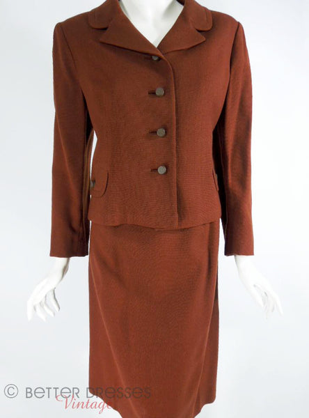 60s Brown Wool Suit - front