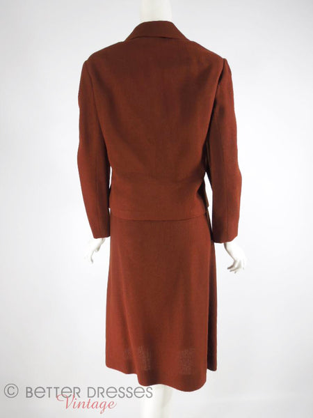 60s Brown Wool Suit - back