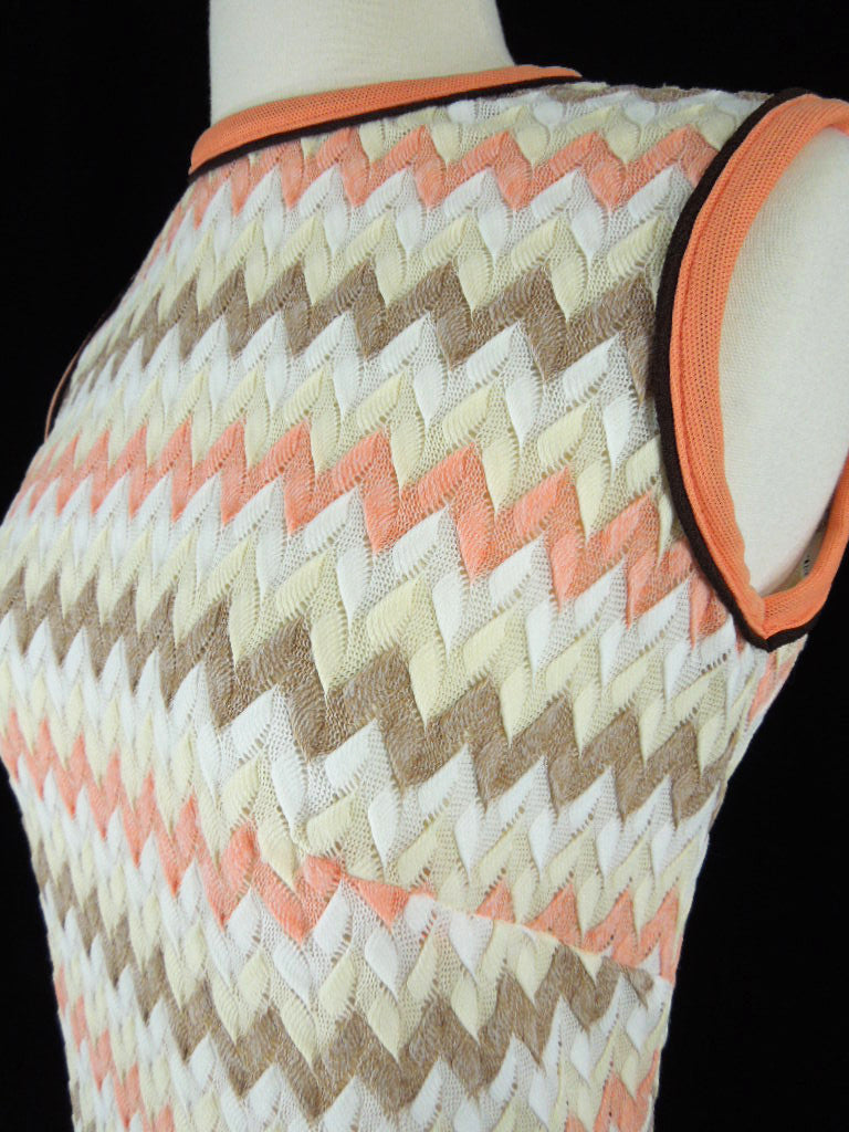 60s/70s Zig Zag Shift Dress - sm