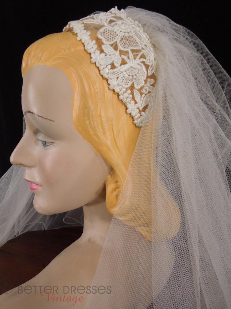 50s Juliet Style Bridal Headpiece and Veil