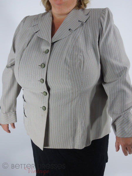 1940s 1950s Plus Size Jacket