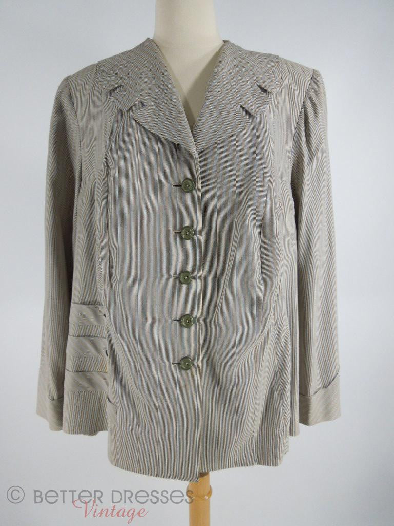 1940s 1950s Plus Size Jacket - on dress form
